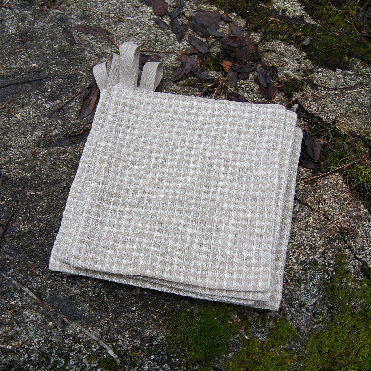 Tvättlapp i våffellinne - stor