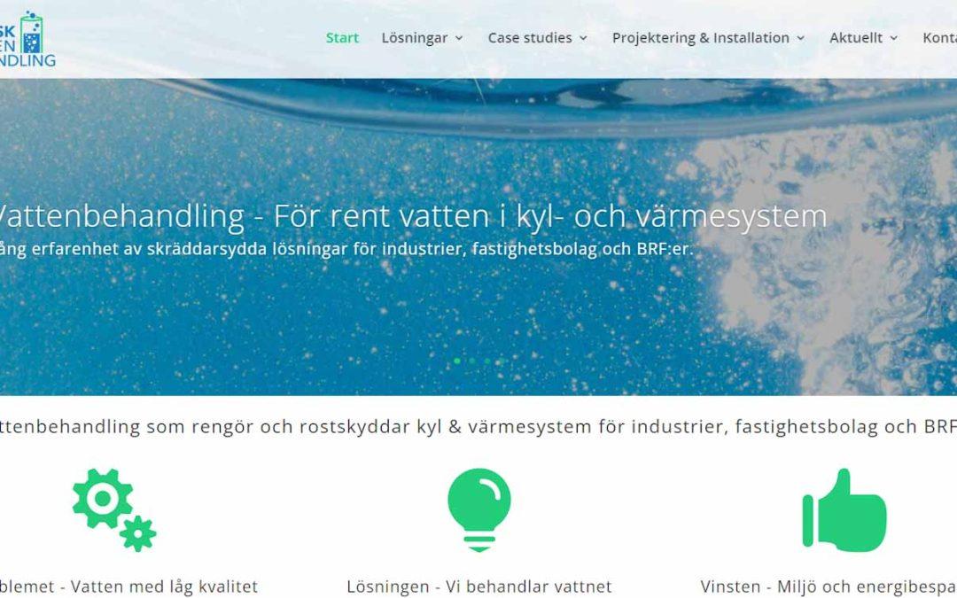 Ny hemsida för Svensk Vattenbehandling