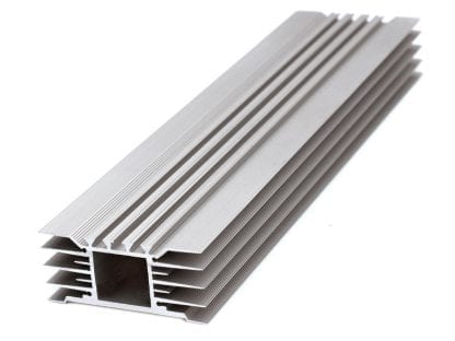 Heat Sink Aluminum Profile SVETOCH STRADA with wide in-body heat sink Aluminum profile SVETOCH STRADA for wide LED module staging area for LED modules for LED lighting in industry, commerce, indoor and outdoor halls
