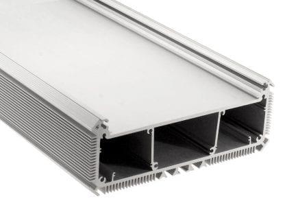 LED Aluminiumprofil SVETOCH NEW LED Heatsink für industrielle LED Beleuchtung mit großer Fläche für Montage von leistungsstarken LED Modulen