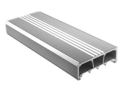 LED Kühlkörper Aluminiumprofil SVETOCH LED Heatsink mit Führungsschienen für LED Streifen, Schutzscheibe und Befestigung an Wand und Decke