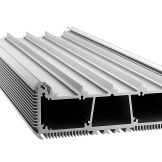 Radiatore a LED profilo in alluminio SVETOCH con guide per strisce LED, disco protettivo e fissaggio a parete e soffitto con nervature di raffreddamento per dissipazione del calore