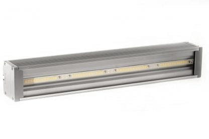 Application example LED luminaire made of the components of the SVETOCH QUADRO series with LED strip and LED heat sink