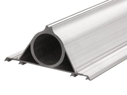 Befestigung SVETOCH KONSOLE DUO für schnelle Rohrbefestigung von SVETOCH Aluminiumprofilen. Besonders gut für Straßen und Platz-Beleuchtung geeignet.