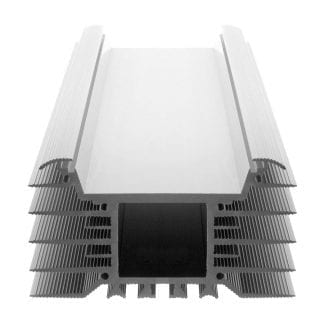 Heat sink Aluminum profile SVETOCH INDUSTRY as a component for LED luminaires for the use of wide LED modules in industrial, commercial and indoor lighting in the indoor and outdoor sector