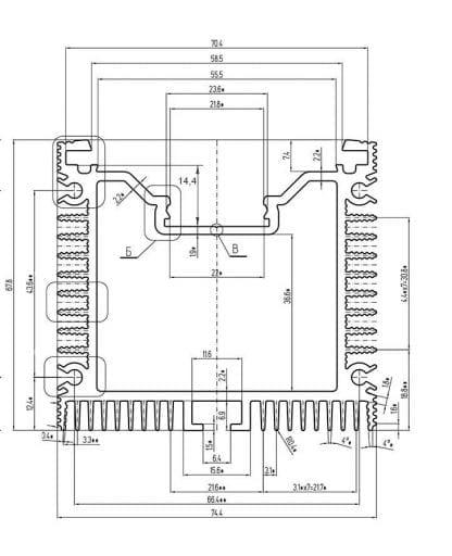 Technical drawing SVETOCH QUADRO