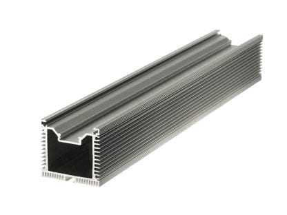 Heat sink Aluminum profile SVETOCH QUADRO with passive heat dissipation for LED luminaires in industrial and commercial lighting
