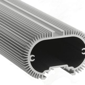 Heat sink Aluminum profile SVETOCH SOLO with guide rails for suspension and mounting