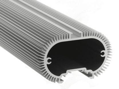 Kühlkörper Aluminiumprofil SVETOCH SOLO mit Führungsschienen zur Aufhängung und Befestigung
