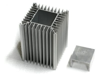 Aluminum profile SVETOCH PROFI LED Heatsink for heat dissipation up to 600 W/m with module carrier that can be pressed into the module with variable depth.