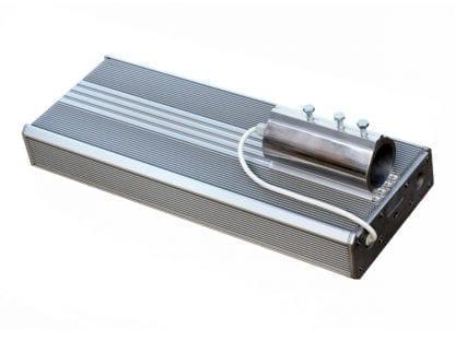 Anwendungsbeispiel LED Leuchte aus den Komponenten der Serie SVETOCH mit Rohrbefestigung und Aluminium-Endkappe