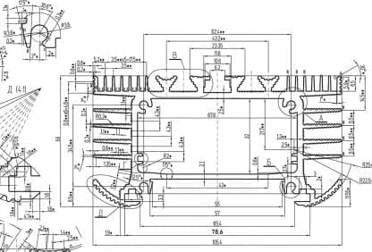 technische Zeichnung SVETOCH UNIVERSE PLANE