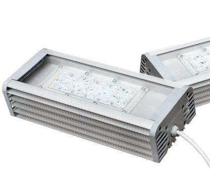 Anwendungsbeispiel der Komponenten SVETOCH INDUSTRY als LED Leuchte für Industrie, Gewerbe, Hallen, Werkstätten, Wohnanlagen und Platzbeleuchtung
