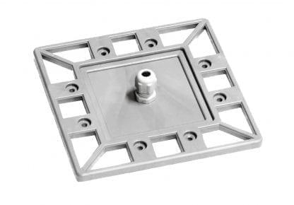 PROFI Profil-Endkappe mit PG7 Kabelführung für Aluminium Hochleistungskühlkörper SVETOCH PROFI