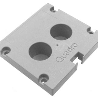 Profile end cap SVETOCH Quadro for aluminium profiles for LED lights