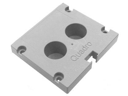 Profil končni pokrovček SVETOCH Quadro za aluminijaste profile za LED luči