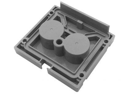 Profilio pabaiga dangtelis SVETOCH Quadro (viduje) su galimybe hidroizoliacijos iki IP67 aliuminio profiliams LED žibintai
