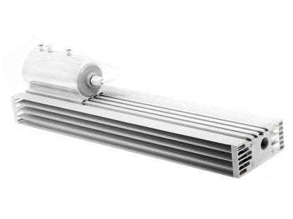 LED luminaire made of aluminum profile SVETOCH STRADA with end cap and pipe attachment CONSUL