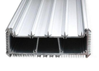 LED-Kühlkörper Aluminiumprofil SVETOCH SVETOCH LED Heatsink mit Kühlrippen für Wärmeableitung und Führungsschienen für LED-Streifen, Treiber und Schutzscheibe