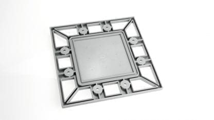 Profile end cap PROFI for aluminium high-power radiator SVETOCH PROFI with recess for LED modules and LED Optique lenses