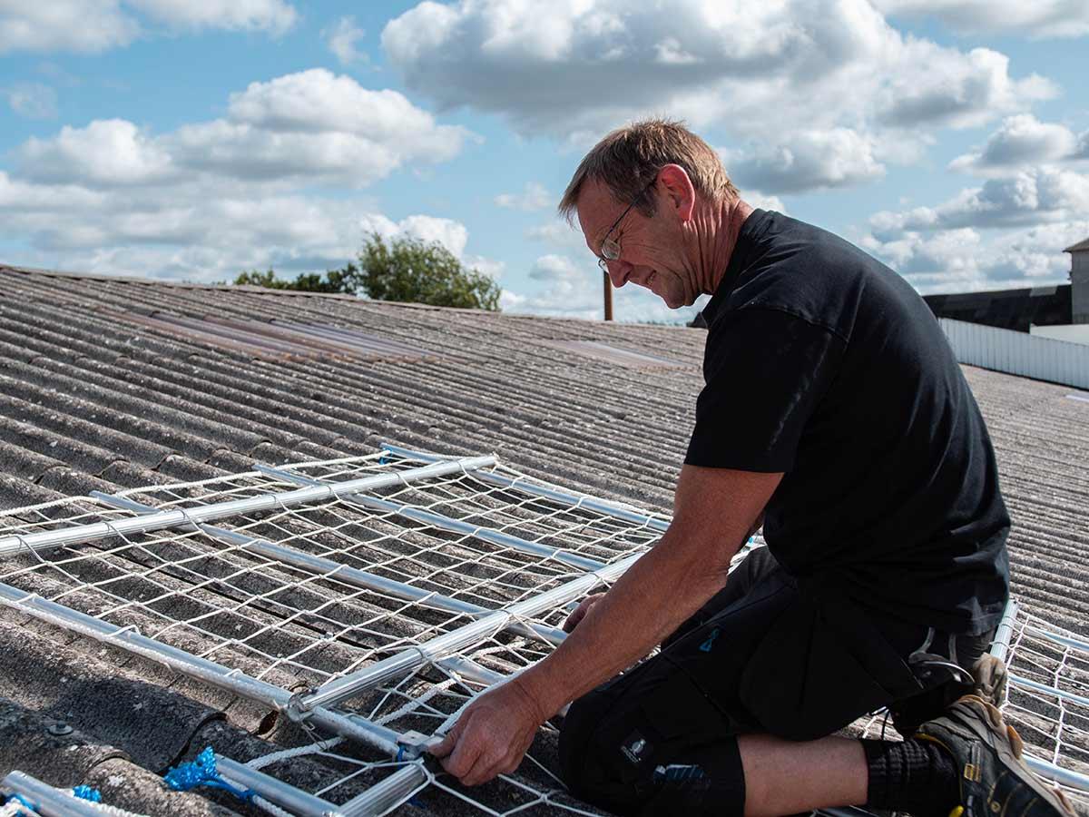 Net-op - sikker på taget
