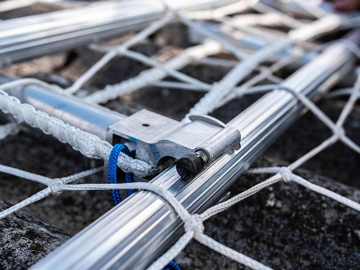 montering af sikkerhedsnet - net-op - sikkerhed på taget