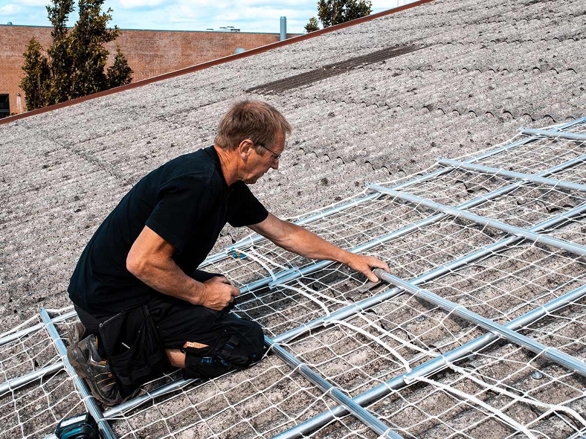 Sikkerhed på taget - netop sikkerhedsnet