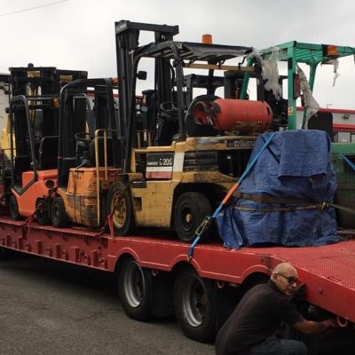 Full Lorry Load of Forklifts