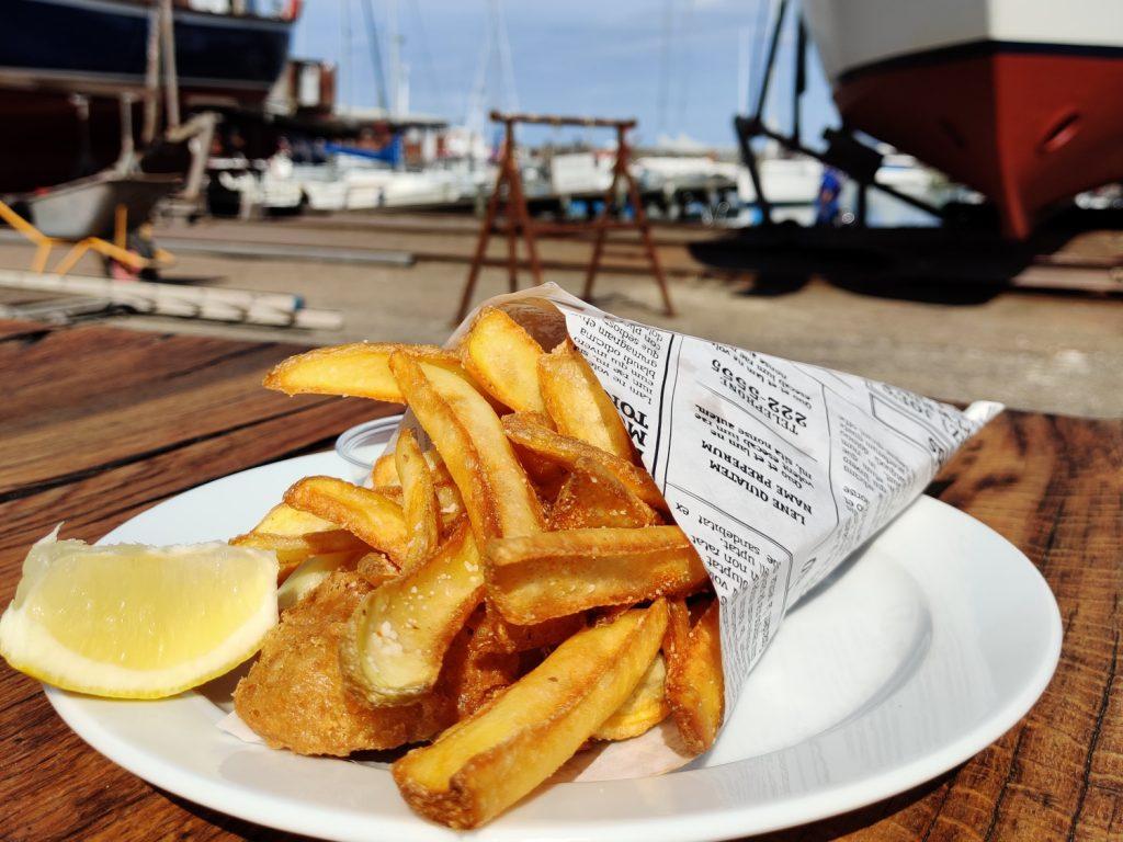 Fishnchips på Lundeborg Havn