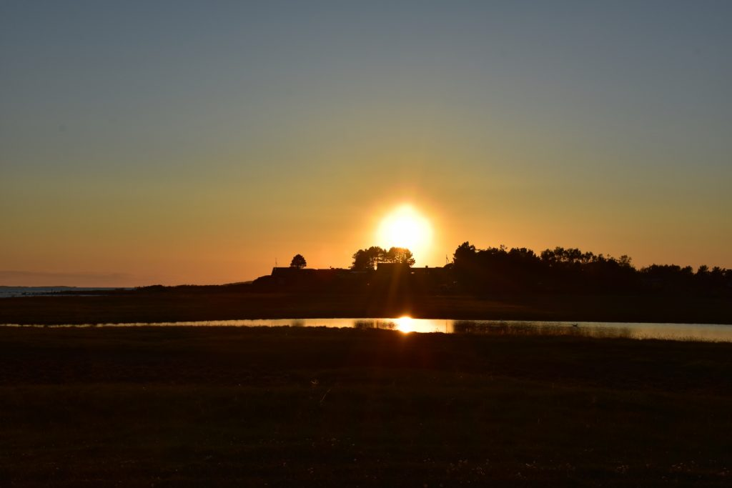 Solnedgang i Faldsled