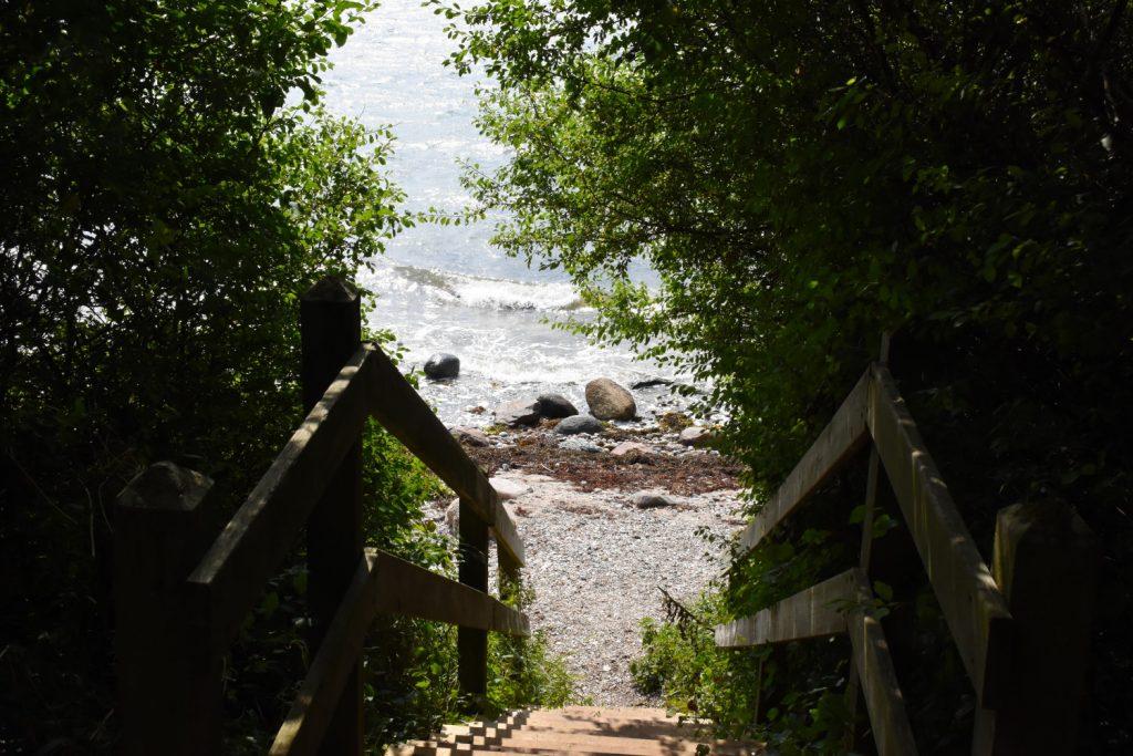 Stranden ved Præstens skov på Sydfyn