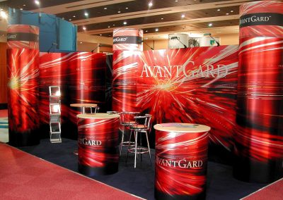 Modular Exhibition Stand Red & Black