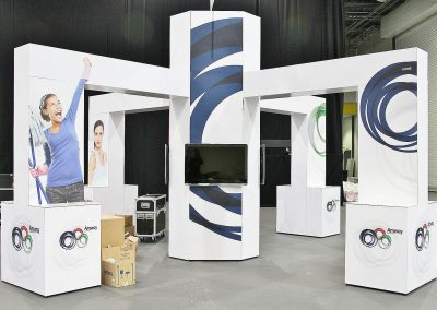 Modular Exhibition Stand with Gantry