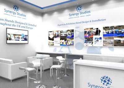 6m x 4m Exhibition Stand Design Open on 2 Sides