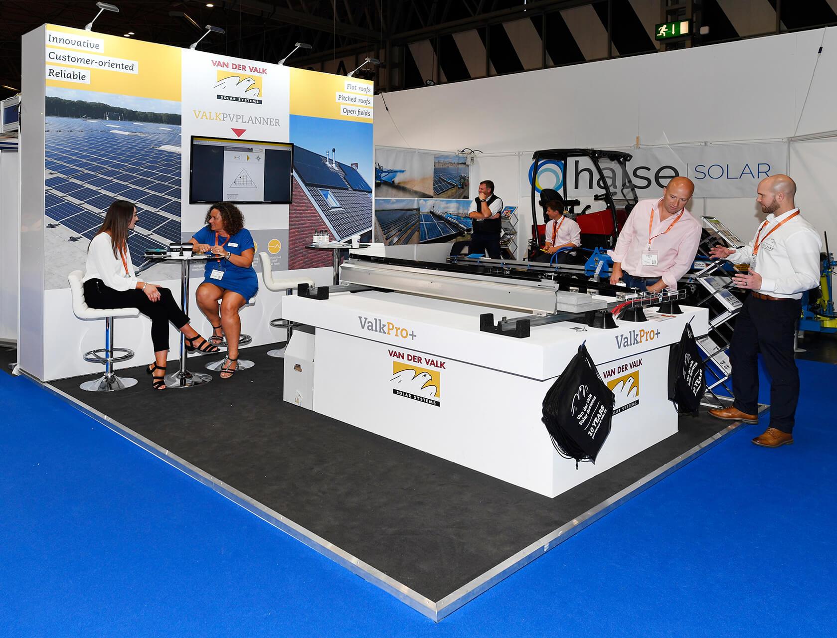 Modular Exhibition Stand Solar Storage Live