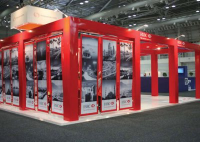 Modular Exhibition Stand Red 2