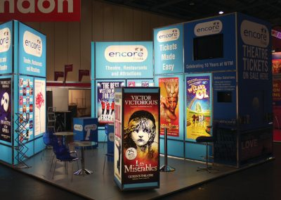 Modular Exhibition stand light boxes