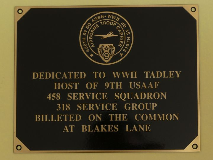 USAAF plaque