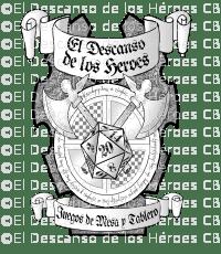 Diseño de un Logotipo - Logotipo Tienda de Rol y Juegos de Mesa - El descanso de los héroes - Blanco y Negro