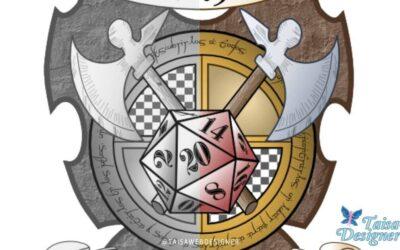 """Logo Design Proccess – Game Shop """"El Descanso de los Héroes"""""""