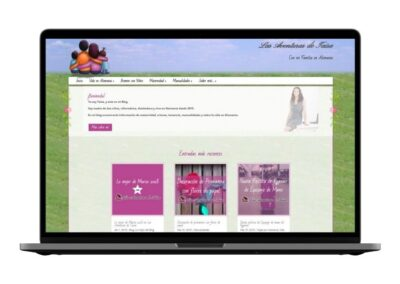 Diseño Blog de Maternidad