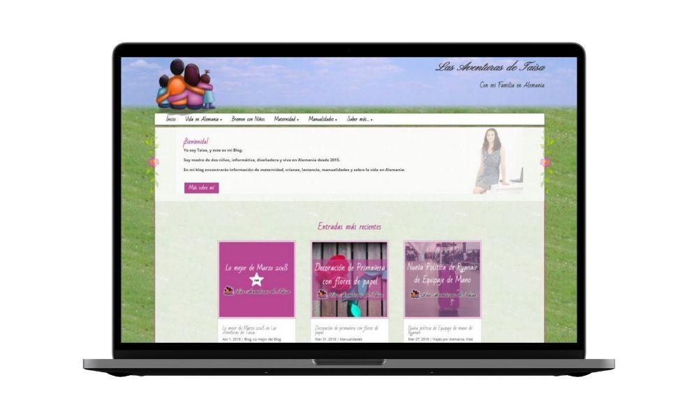 Diseño web lasaventurasdetaisa.com