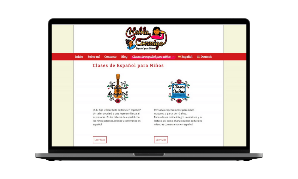 Diseño web clases de español