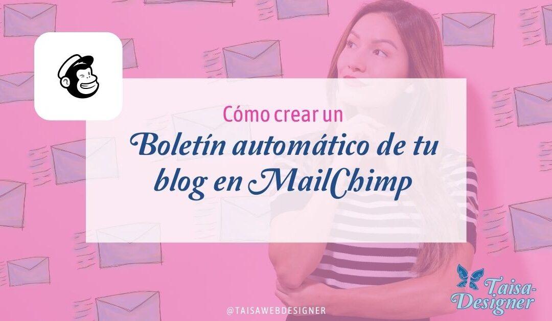 Cómo crear un boletín automático cuando se crear una nueva entrada en el blog WordPress