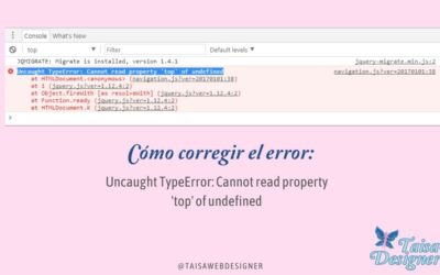 Uncaught TypeError: Cannot read property 'top' of undefined