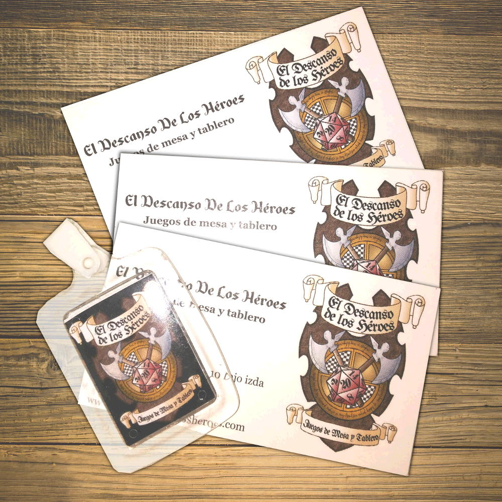 Basic Business cards roleplaying and games shop