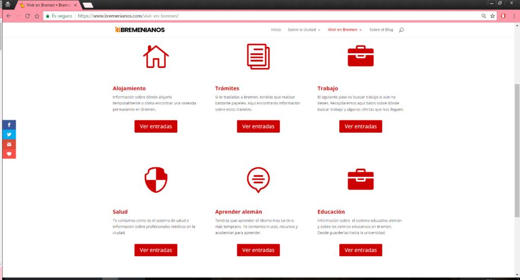 Página creada con DIVI Theme y DIVI Builder