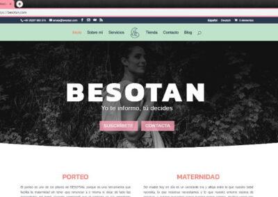Diseño web página Besotan.com