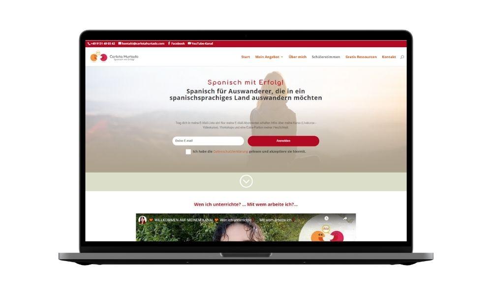 Diseño web para clases de idiomas online