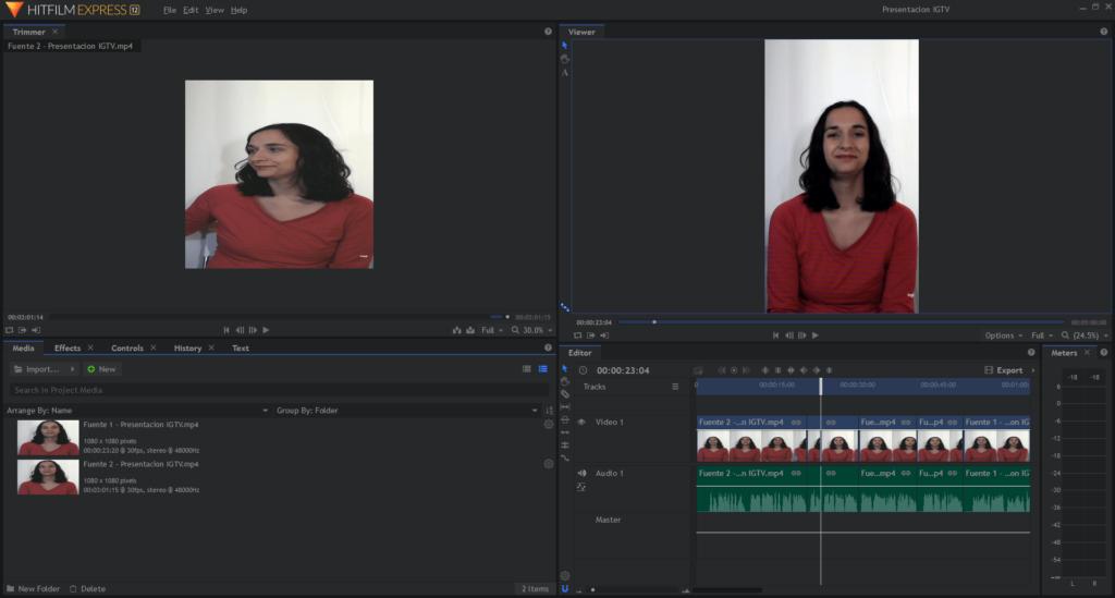 Programa gratis para editar vídeos - Hitfilm Express